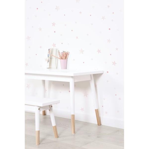 Papier peint intissé motif etoiles, coloris rose - Photo n°2