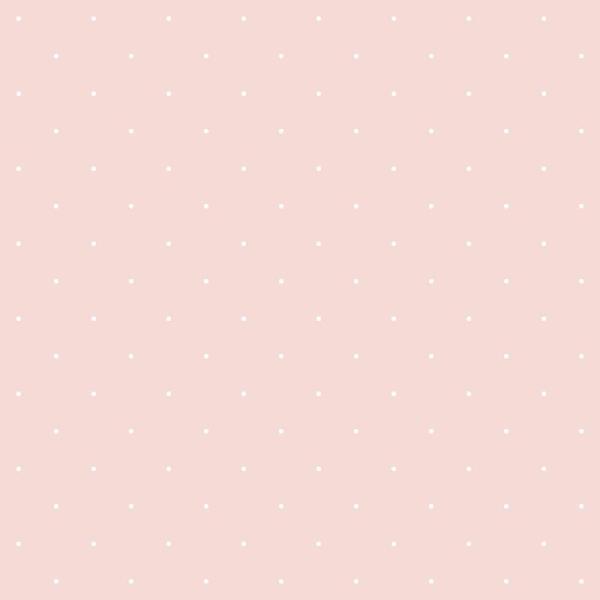 Papier peint intissé motif a pois blancs sur fond rose - Photo n°1