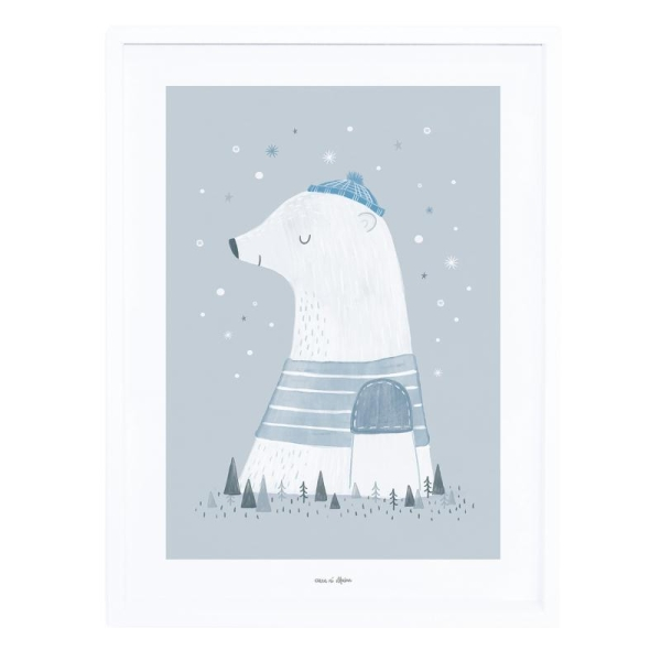 Affiche avec cadre olaf l'ours polaire - Photo n°1