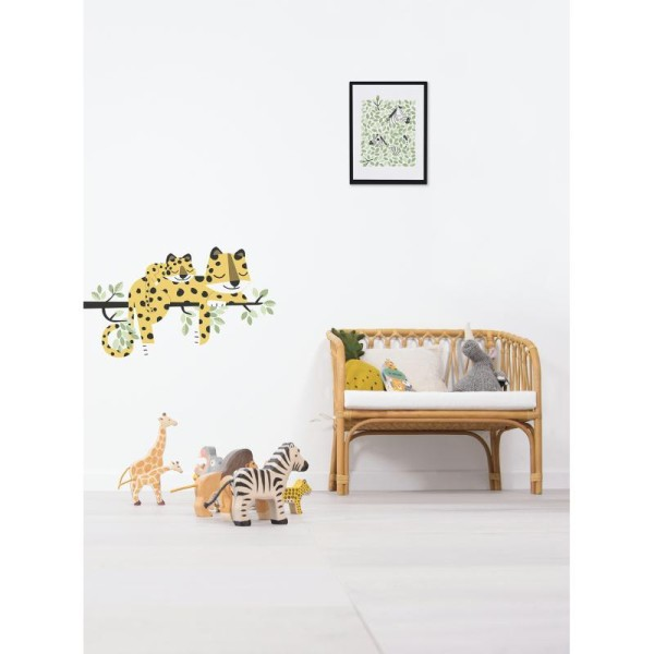 Grand sticker guepard family - Photo n°2