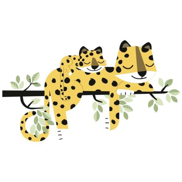 Grand sticker guepard family - Photo n°1