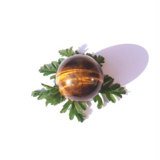 Sphère Oeil de Tigre multicolore 2.5 CM de diamètre ( F )