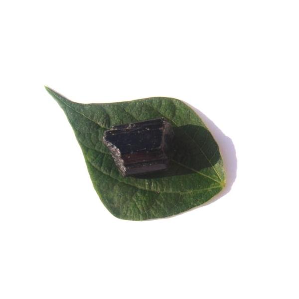 Pierre brute Tourmaline Noire du Brésil 2.5 CM x 1.7 CM de diamètre max (F) - Photo n°2