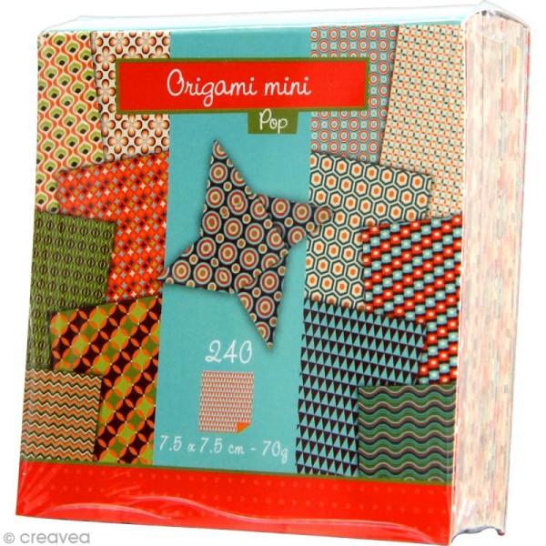 Origami mini - Pop - 240 feuilles de 7,5 x 7,5 cm - Photo n°2