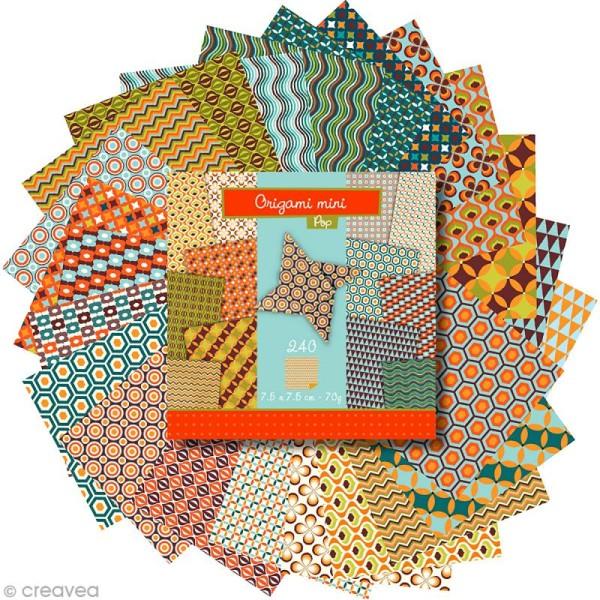 Origami mini - Pop - 240 feuilles de 7,5 x 7,5 cm - Photo n°3