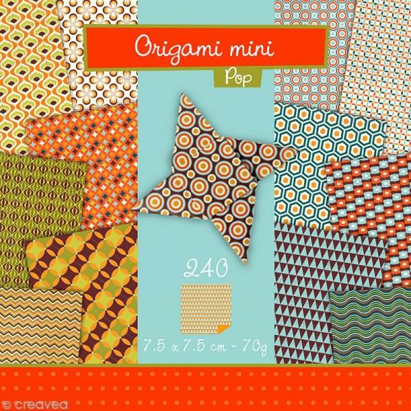 Origami mini - Pop - 240 feuilles de 7,5 x 7,5 cm - Photo n°1