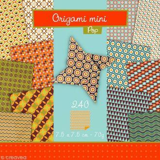 Origami mini - Pop - 240 feuilles de 7,5 x 7,5 cm