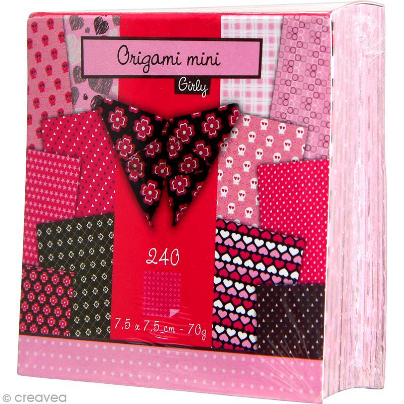 Origami mini - Girly - 240 feuilles de 7,5 x 7,5 cm - Photo n°2