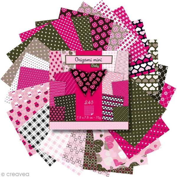 Origami mini - Girly - 240 feuilles de 7,5 x 7,5 cm - Photo n°3
