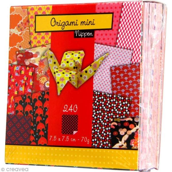 Origami mini - Nippon - 240 feuilles de 7,5 x 7,5 cm - Photo n°2