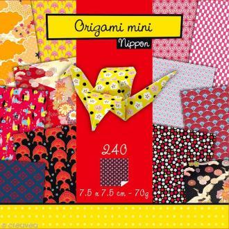Origami mini - Nippon - 240 feuilles de 7,5 x 7,5 cm