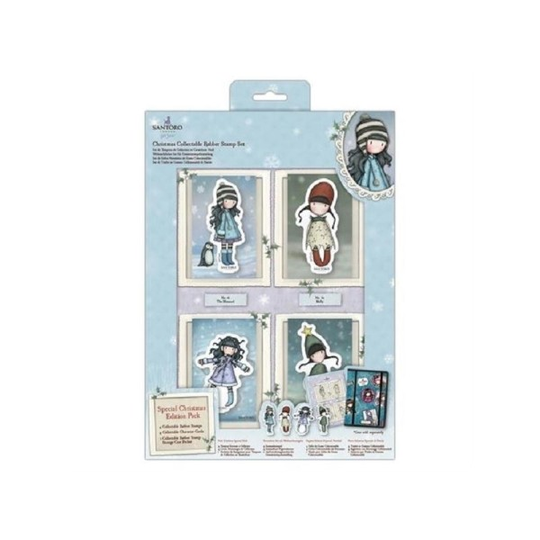 Gorjuss Christmas Collectable Rubber Stamps - 4 pcs - Photo n°1