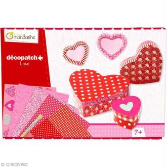 Kit créatif Décopatch - Coeurs