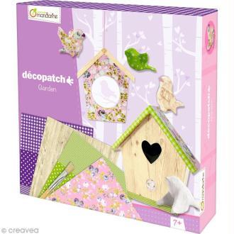Kit créatif Décopatch - Jardin - Oiseaux et Nichoirs