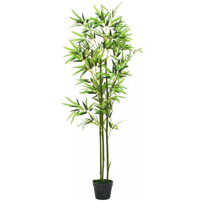 vidaxl plante artificielle avec pot bambou 150 cm vert fleurs et plantes artificielles creavea. Black Bedroom Furniture Sets. Home Design Ideas