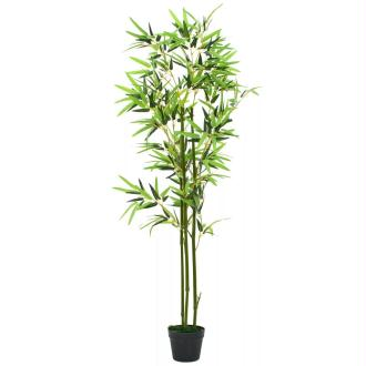 Vidaxl Plante Artificielle Avec Pot Bambou 150 Cm Vert
