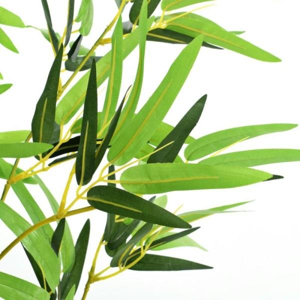 Vidaxl Plante Artificielle Avec Pot Bambou 175 Cm Vert - Photo n°3