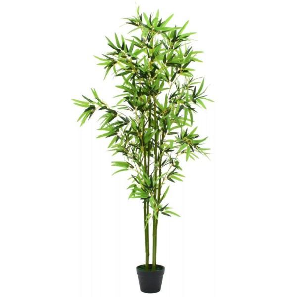 Vidaxl Plante Artificielle Avec Pot Bambou 175 Cm Vert - Photo n°1