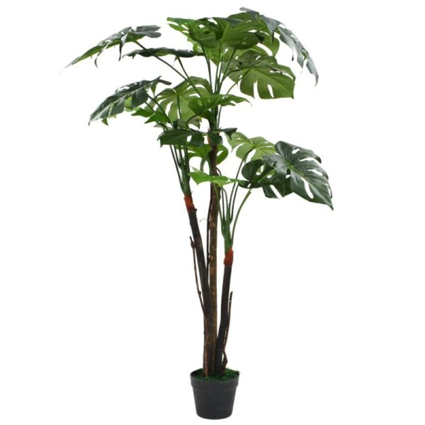 Vidaxl Plante Artificielle Avec Pot Monstera 130 Cm Vert - Photo n°1