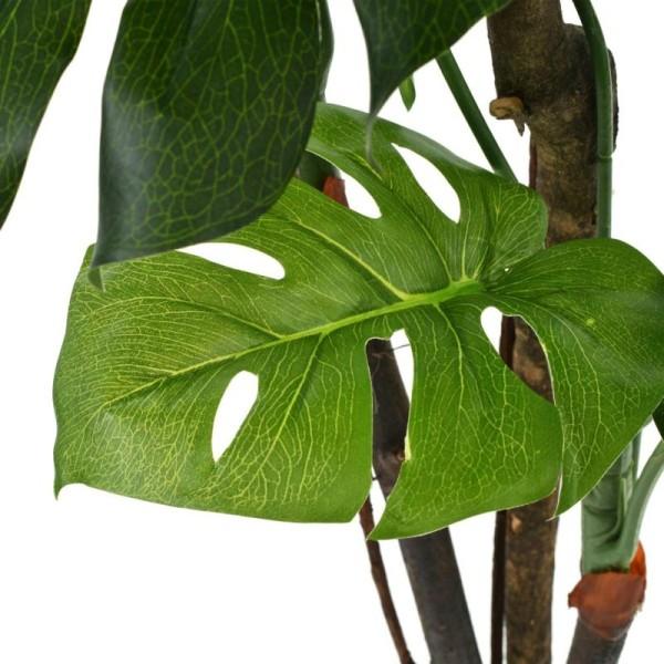 Vidaxl Plante Artificielle Avec Pot Monstera 170 Cm Vert - Photo n°2