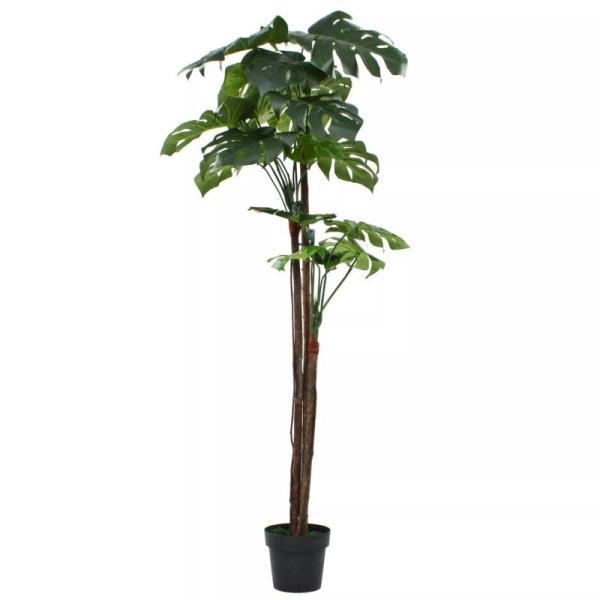 Vidaxl Plante Artificielle Avec Pot Monstera 170 Cm Vert - Photo n°1