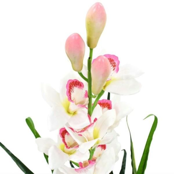 Vidaxl Plante Artificielle Orchidée Cymbidium Avec Pot 100 Cm Vert - Photo n°2