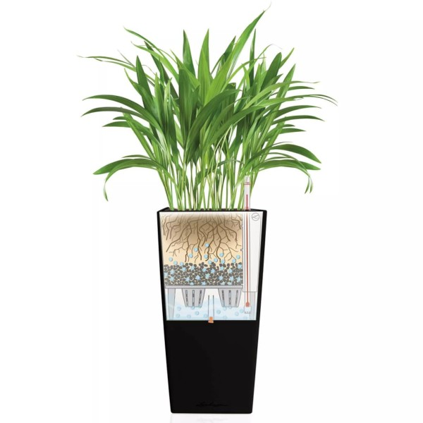 Lechuza Jardinière Cubico 30 All-in-one Charbon 18184 - Photo n°4