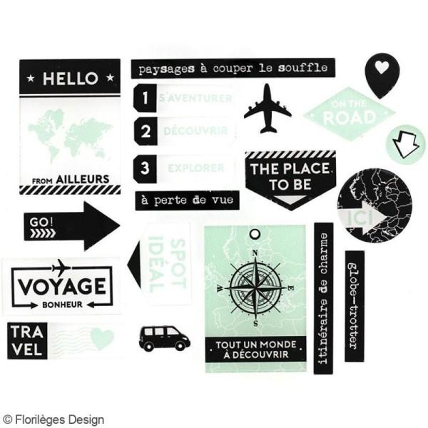 Embellissements acrylique Florilèges Design - Invitation au voyage - 20 pcs - Photo n°2