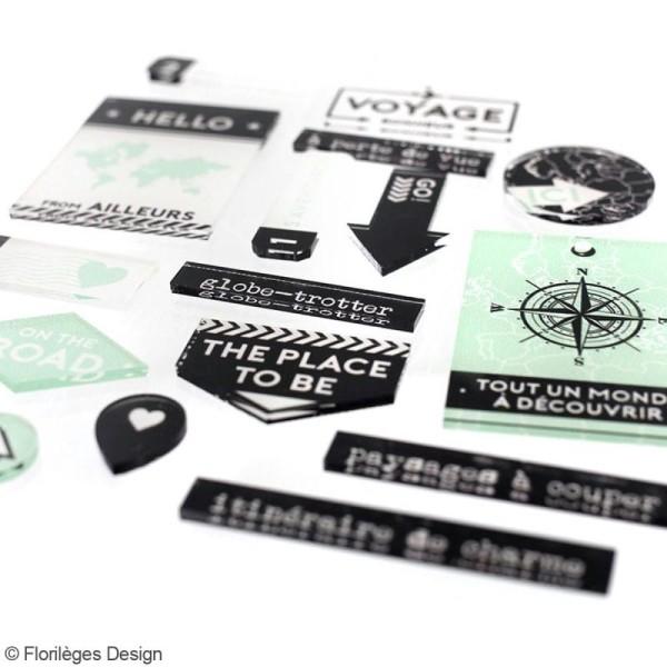 Embellissements acrylique Florilèges Design - Invitation au voyage - 20 pcs - Photo n°3