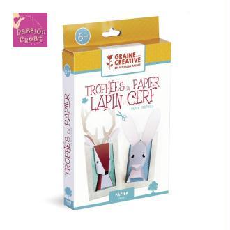 Kit Trophées En Papier Lapin Et Cerf A Créer Soi-Même