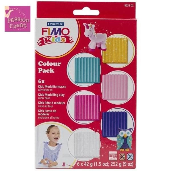 Kit Fimo Kids 6 Couleurs Fille - Photo n°1