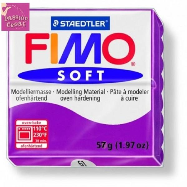 Un Pain De Fimo Soft Violet N°61 - Photo n°1