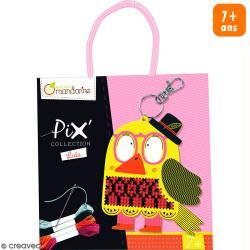 Kit point de croix Pix' - Porte-clé Lulu l'Oiseau