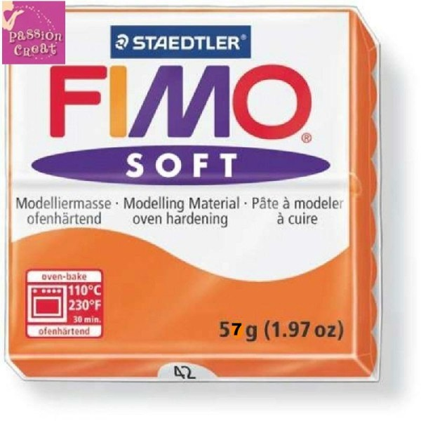 Un Pain De Fimo Soft Mandarine N°42 - Photo n°1