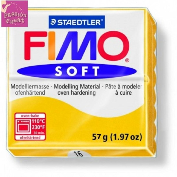 Un Pain De Fimo Soft Jaune Soleil N°16 - Photo n°1