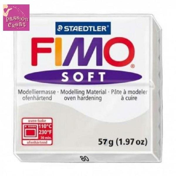 Un Pain De Fimo Soft Gris N°80 - Photo n°1