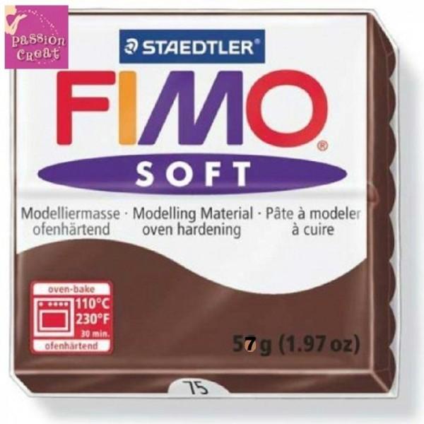 Un Pain De Fimo Soft Chocolat N°75 - Photo n°1