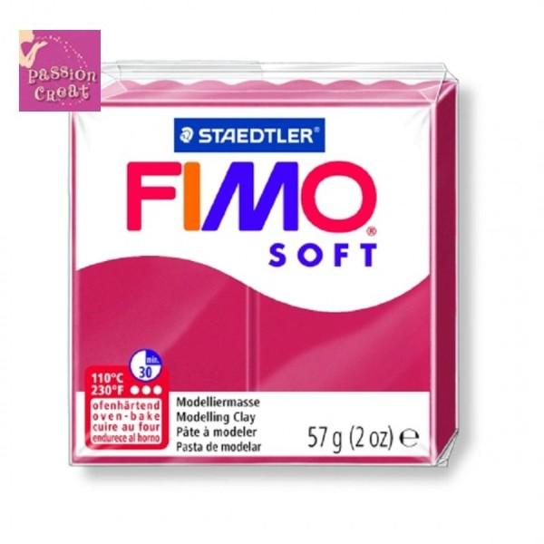 Un Pain De Fimo Soft Cerise N°26 - Photo n°1
