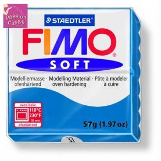 Un Pain De Fimo Soft Bleu Pacifique N°37