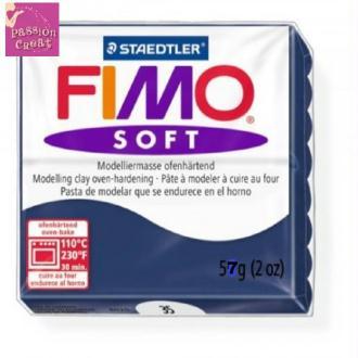 Un Pain De Fimo Soft Bleu Foncé N°35