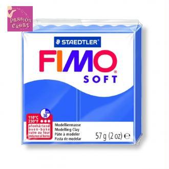 Un Pain De Fimo Soft Bleu Brillant N°33