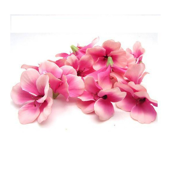 Lot de 10 fleurs de begonia rose - Photo n°1