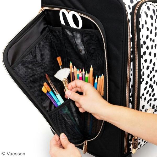Valise de rangement loisirs créatifs - 360 crafter's bag - Rose gold - Photo n°2