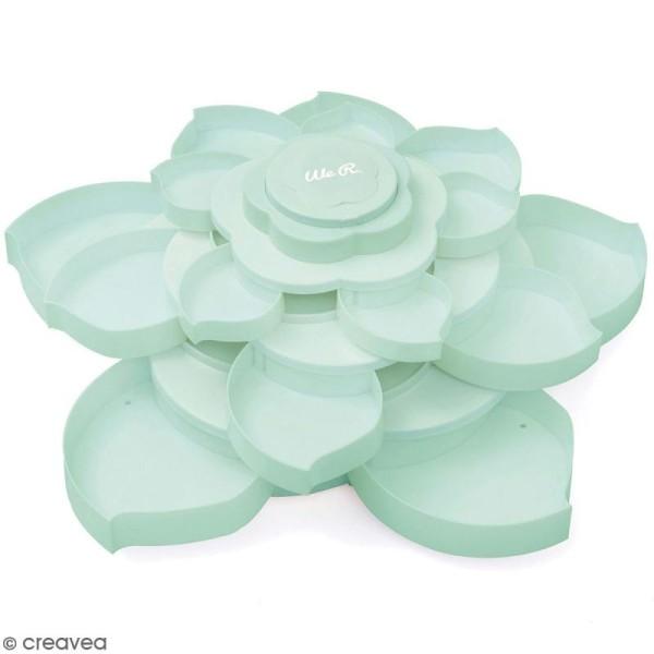 Boîte de rangement fleur We R Memory Keepers - 16 compartiments - Menthe - Photo n°1