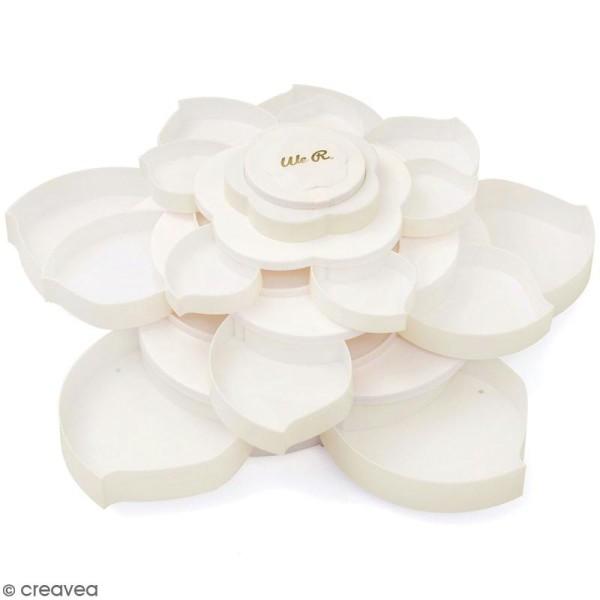 Boîte de rangement fleur We R Memory Keepers - 16 compartiments - Blanc - Photo n°1