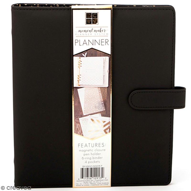 Planner classeur A5 - Noir - Photo n°1