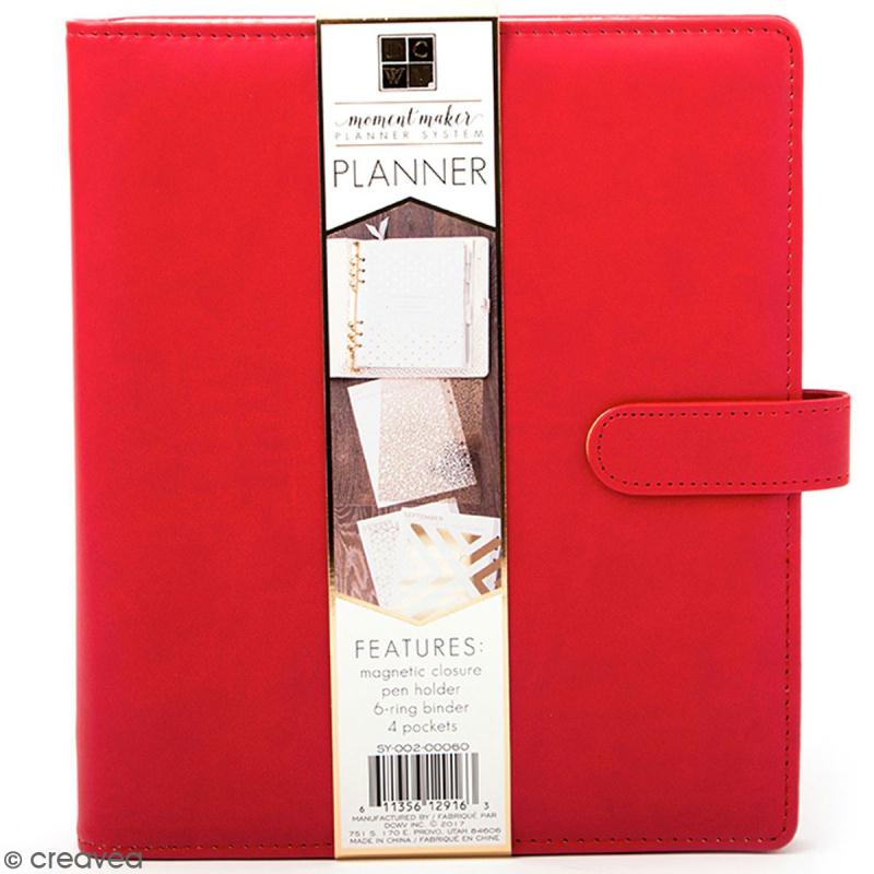 Planner classeur A5 - Rouge - Photo n°1