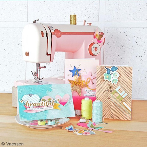 Machine à coudre stitch happy We R Memory Keepers - Rose - Photo n°2