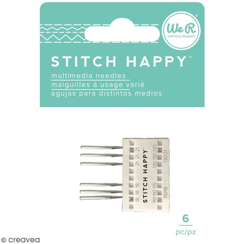 Aiguilles pour machine à coudre Stitch Happy - n 18 et 21 - 6 pcs - Photo n°1