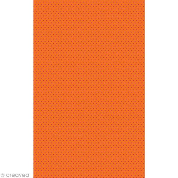 Décopatch Rouge Orange 671 - 1 feuille - Photo n°1
